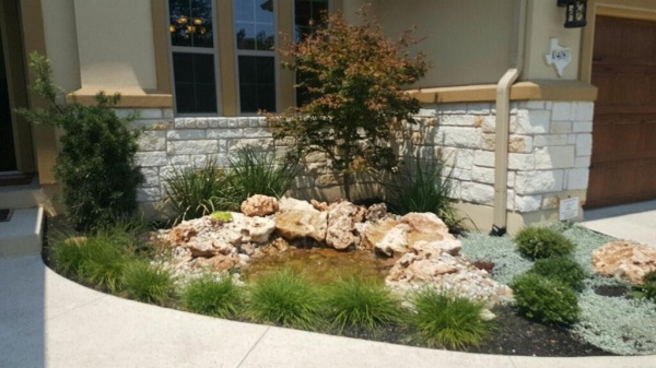 Water features with landscape.